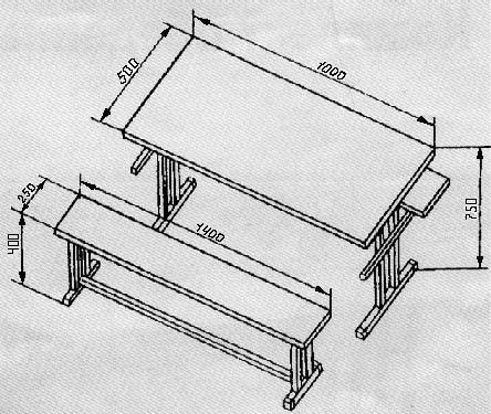обеденный стол из дерева своими руками чертежи